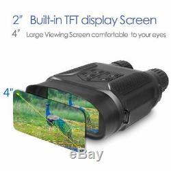 Vision Nocturne Binocular 1300ft Fonction D'enregistrement Robuste Armure Numérique Infrarouge