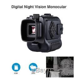 Vision Nocturne Infrarouge 8gb 5x Digital Monocular 850nm Prenez La Photo Binoculaire