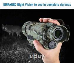 Vision Nocturne Infrarouge En Plein Air De Randonnée De Chasse Caméra Vidéo Numérique