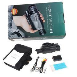Vision Nocturne Infrarouge Infrarouge De Caméra Vidéo Numérique 5x40 Monoculaire Télescope USA