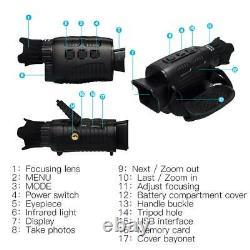 Vision Nocturne Infrarouge Prise Numérique Télescope Monoculaire 1,5 Pouces Écran Tft
