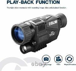 Vision Nocturne Monoculaire 5x40 Avec 1,5 Tft LCD 16g Caméra Caméra Vidéo Enregistreur Nvg