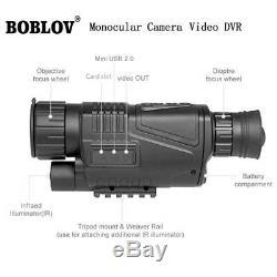 Wg-37 Télescopes Monoculaires Scope Dvr Hd Optique Numérique Ir Vision Nocturne 5x Zoom