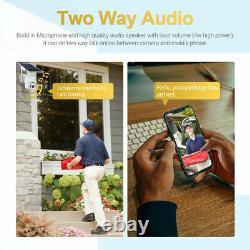 Wifi 1080p Solaire Ptz Ip Sans Fil Caméra De Sécurité Extérieure Cctv Vision Nocturne