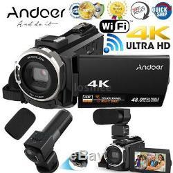 Wifi 4k Hd 1080p 48mp 3 Caméscope Numérique DV Avec Vision Nocturne Ir