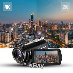 Wifi 4k Ultra Hd 30x Avec Microphone Vidéo Numérique. Caméscope DV Caméra I3h1