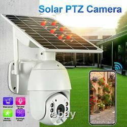 Wifi Solar Camera Wireless Security 1080p Vision Nocturne Extérieure Ip66 Imperméable À L'eau