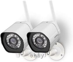Zmodo Wireless Security Camera System (2 Pack), Smart Home Hd Indoor Outdoor
