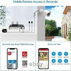 Zosi H. 256+ 5mp Lite 8ch Surveillance Security Smart Recording 1080p Dvr 2 To